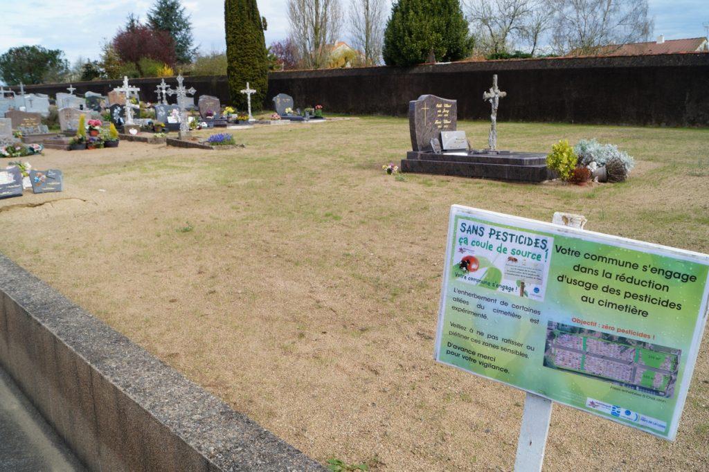Enherbement des cimetières